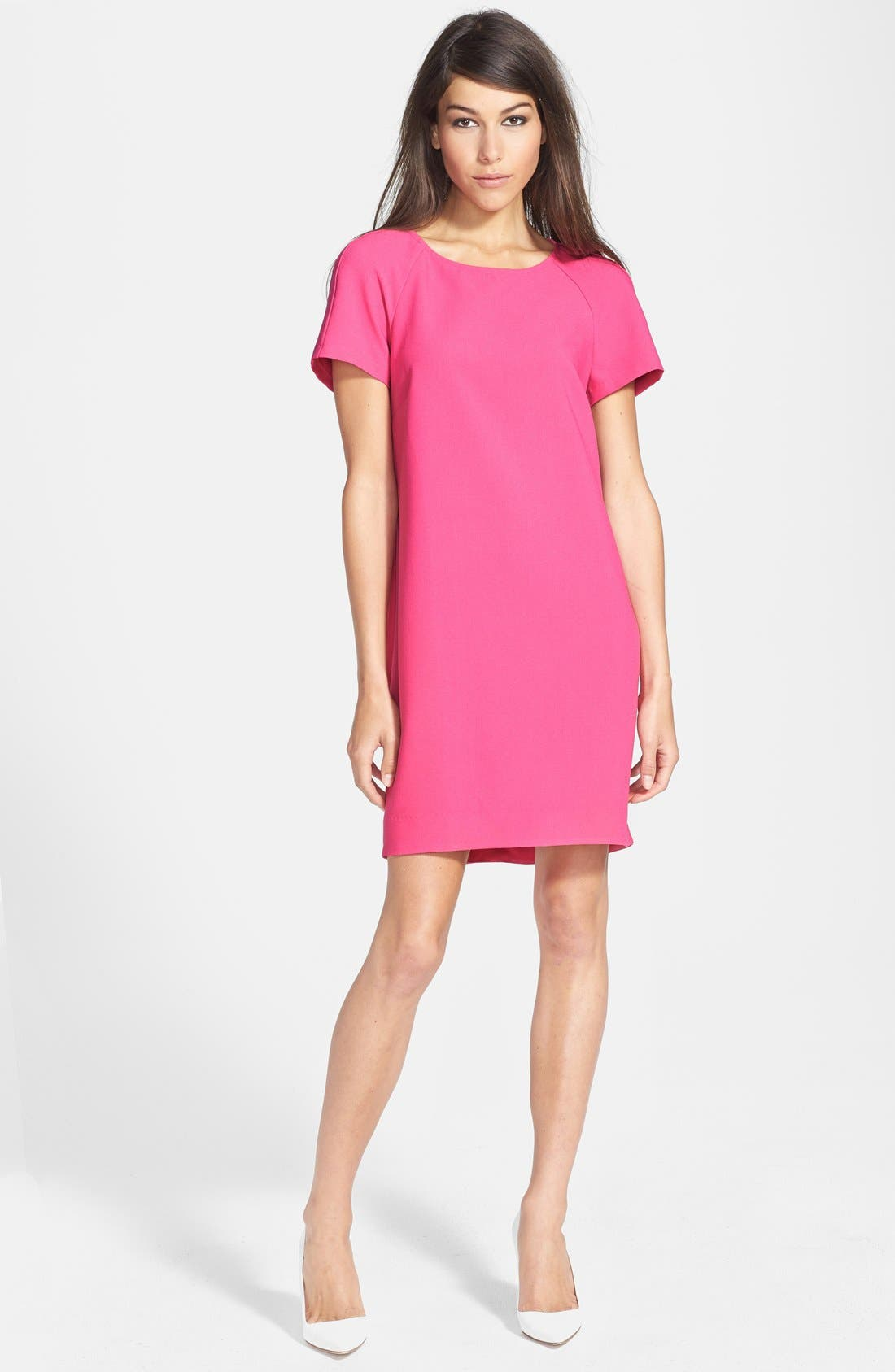 ,                             Crepe Shift Dress,                             Main thumbnail 10, color,                             650