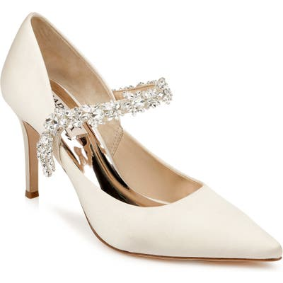 Badgley Mischka Esperanza Embellished Pump, Ivory