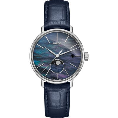 Rado Coupole Classic Leather Strap Watch,