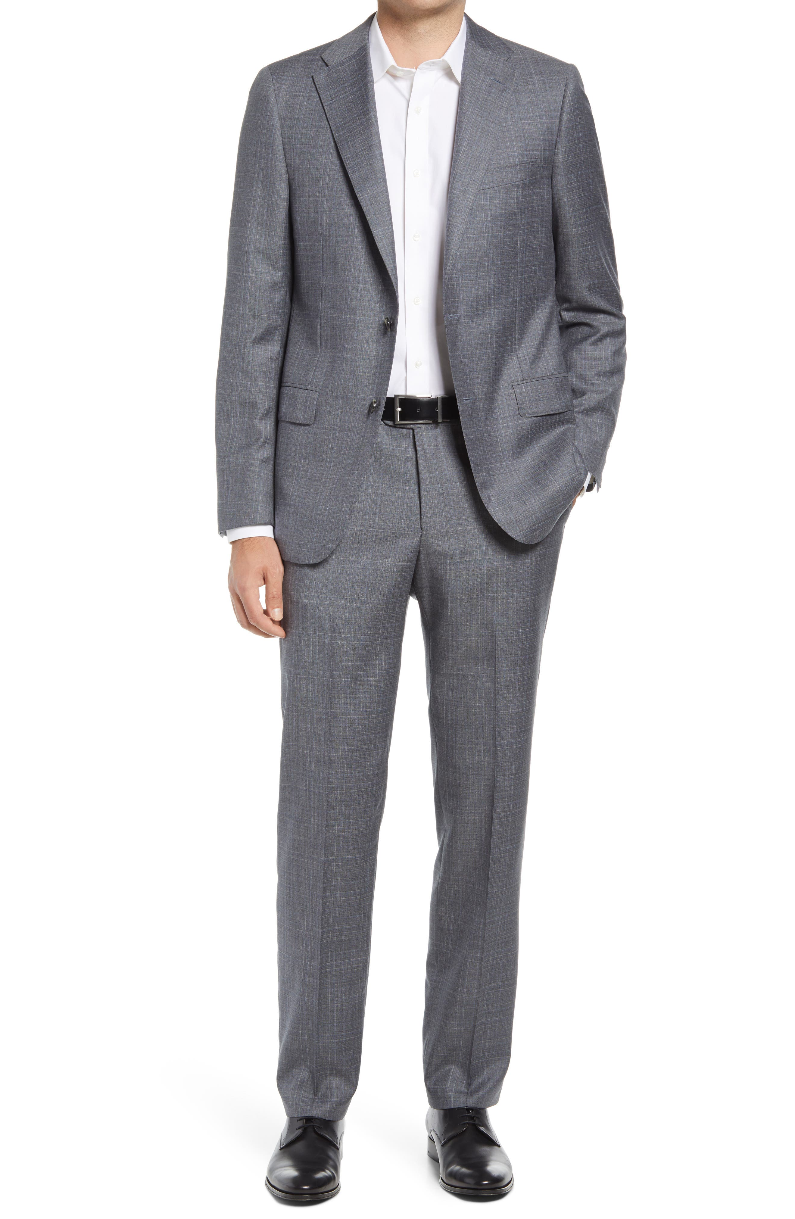 Classic Fit Check Wool Suit