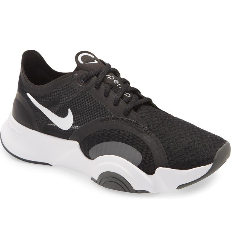 NIKE SuperRep Go Training Shoe, Main, color, WHITE/ BLACK/ SMOKE GREY