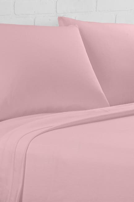 Image of Ella Jayne Percale 300 Thread Count 4-Piece Sheet Set - Blush - Cal King