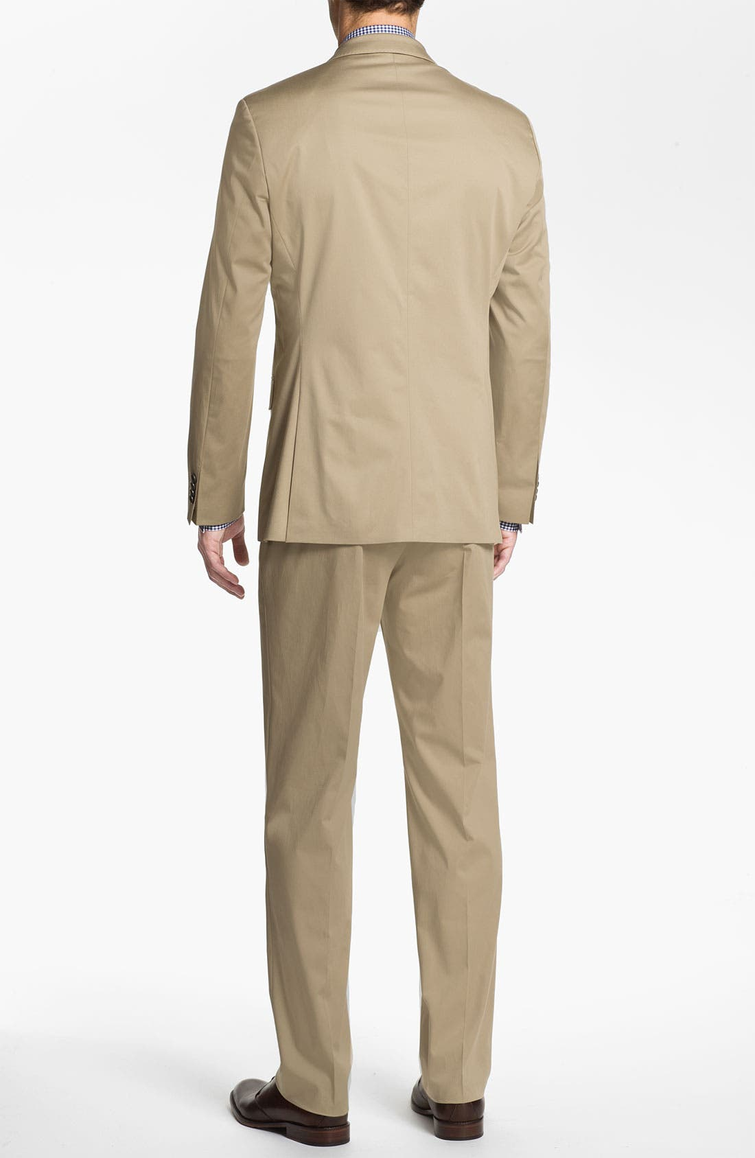 ,                             BOSS Black 'James/Sharp' Cotton Suit,                             Alternate thumbnail 4, color,                             291