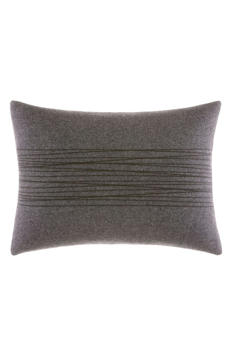 VERA WANG Burnished Quartz Thick Stitch Accent Pillow, Main, color, CHARCOAL