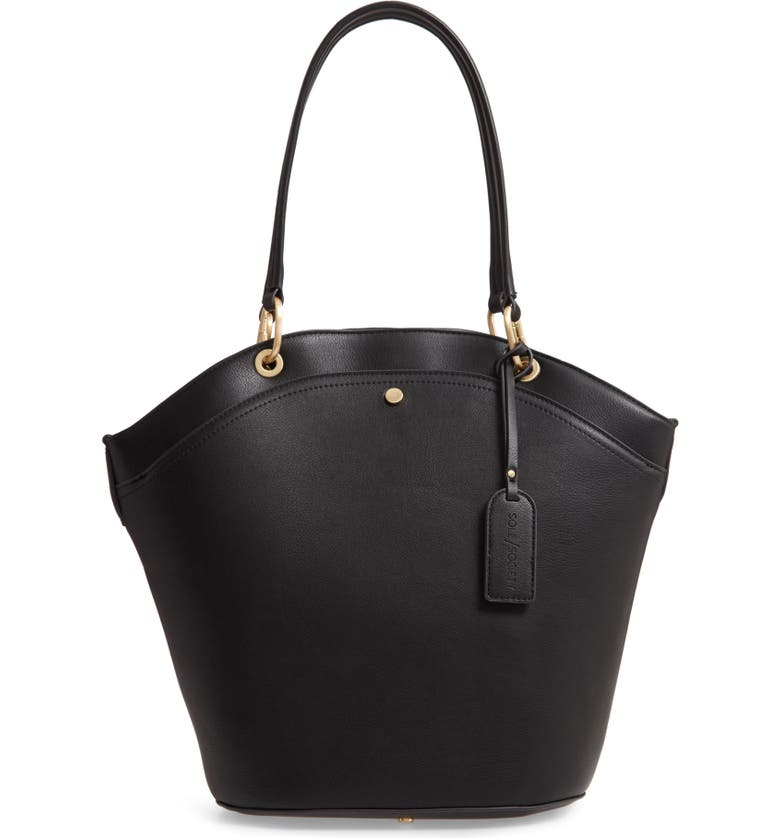 SOLE SOCIETY Coila Faux Leather Tote, Main, color, 001