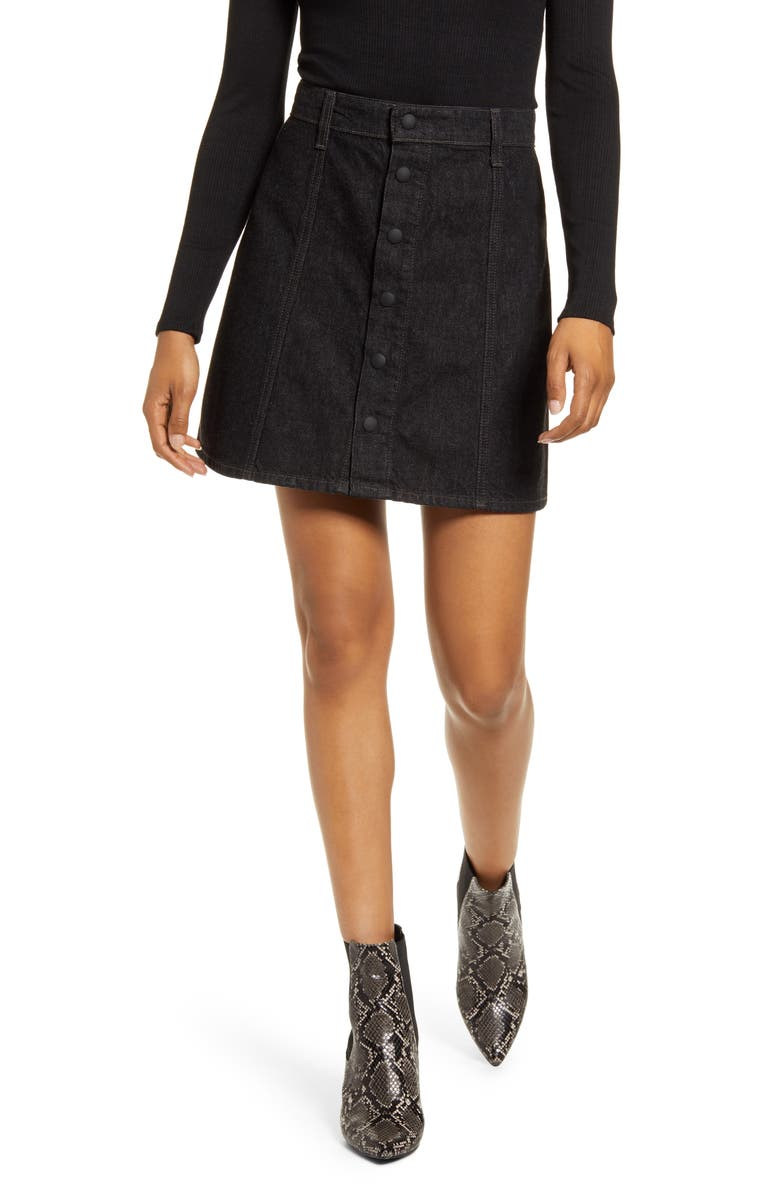 AG Kety Snap Front Denim Skirt, Main, color, MELODRAMA