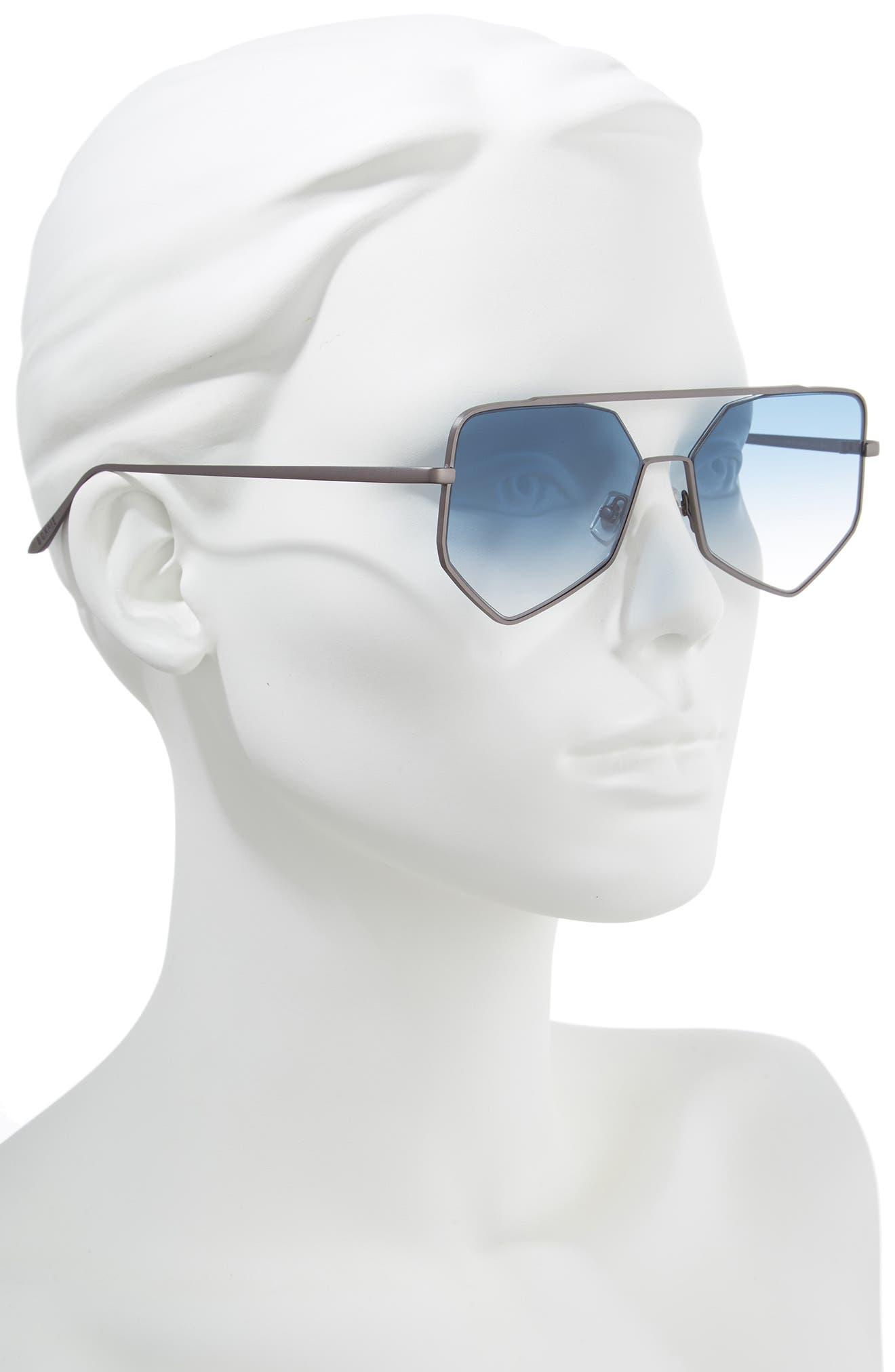 ,                             Figueroa II 57mm Aviator Sunglasses,                             Alternate thumbnail 2, color,                             BLUE GRADIENT