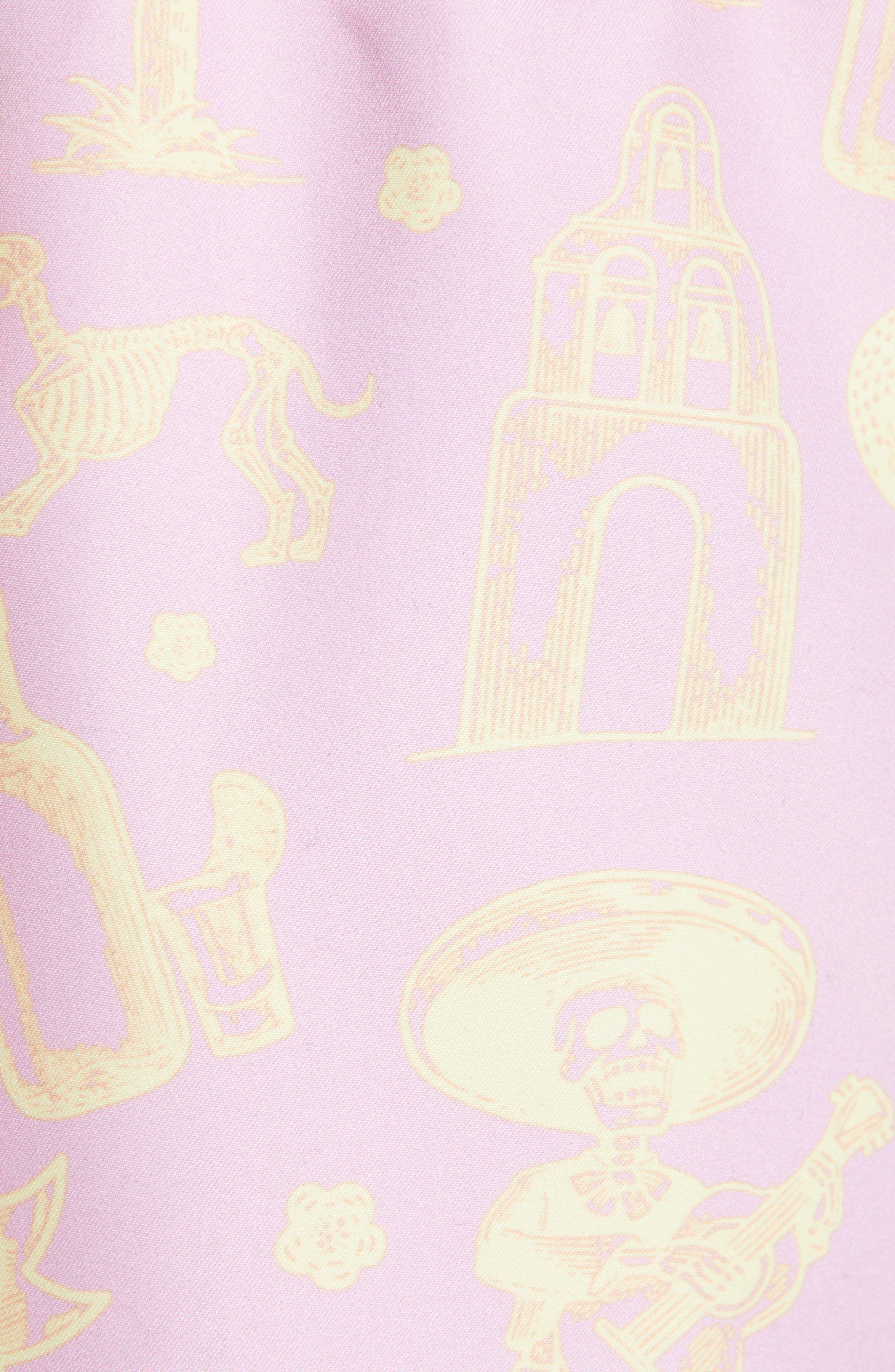 ,                             La Cucaracha Print Swim Trunks,                             Alternate thumbnail 5, color,                             DUSTY PINK