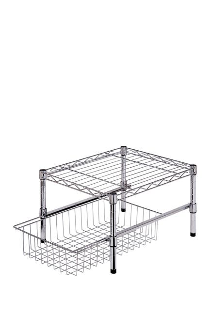 Image of Honey-Can-Do Chrome Adjustable Shelf/Basket Cabinet Organizer