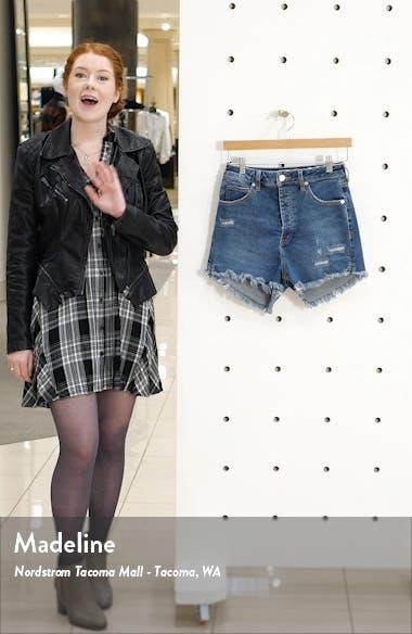 Curvy High Waist Denim Shorts, sales video thumbnail