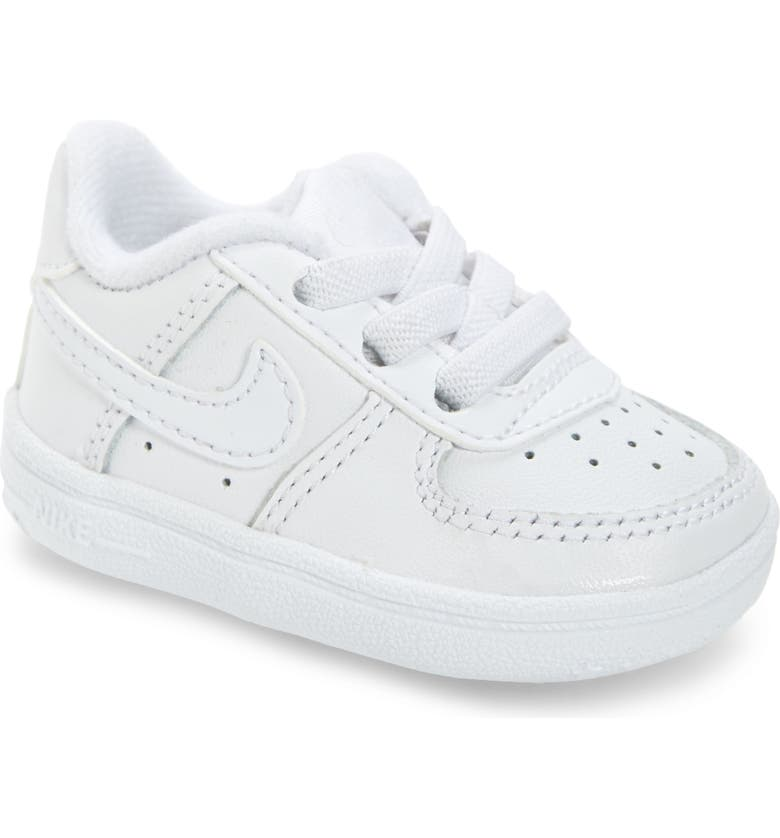 NIKE Force 1 Sneaker, Main, color, 100 WHITE/ WHITE/ WHITE