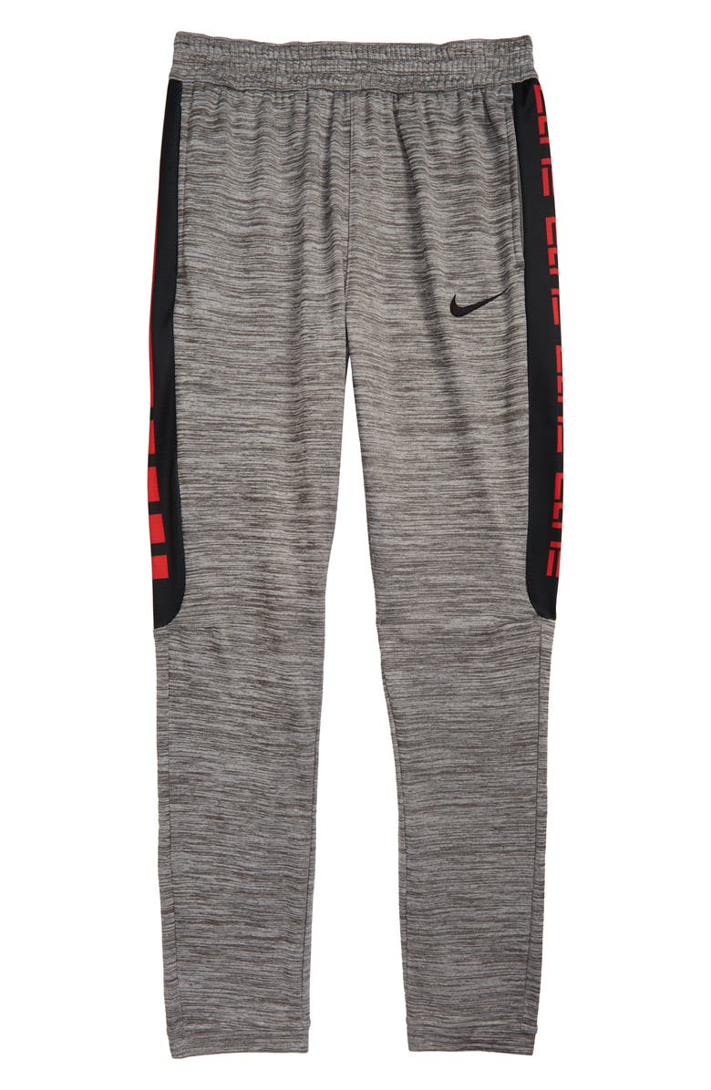 NIKE Therma Elite Stripe Pants, Main, color, GUNSMOKE HEATHER/ BLACK
