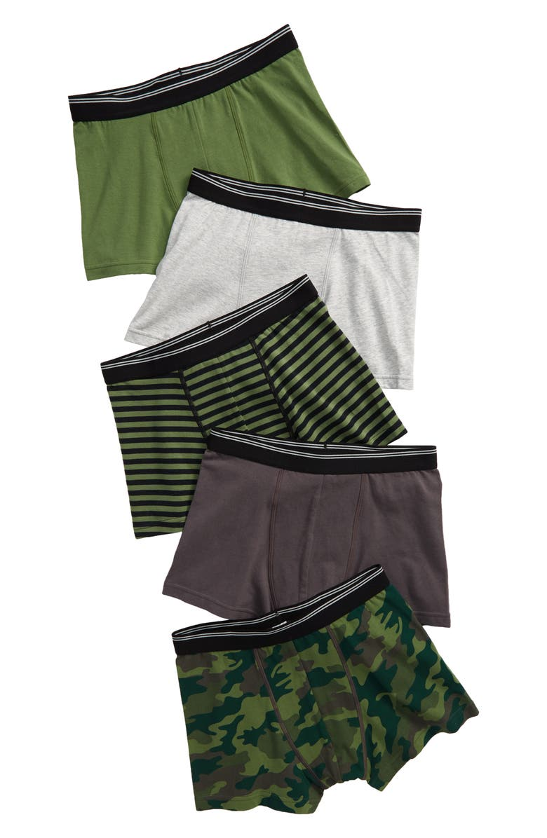 TUCKER + TATE 5-Pack Trunks, Main, color, CAMO STRIPE PACK