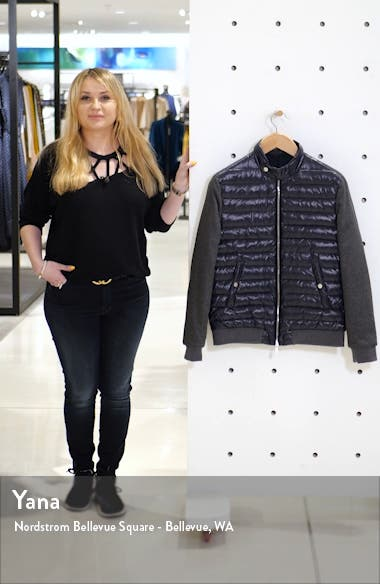 Mixed Media Quilted Down Jacket, sales video thumbnail