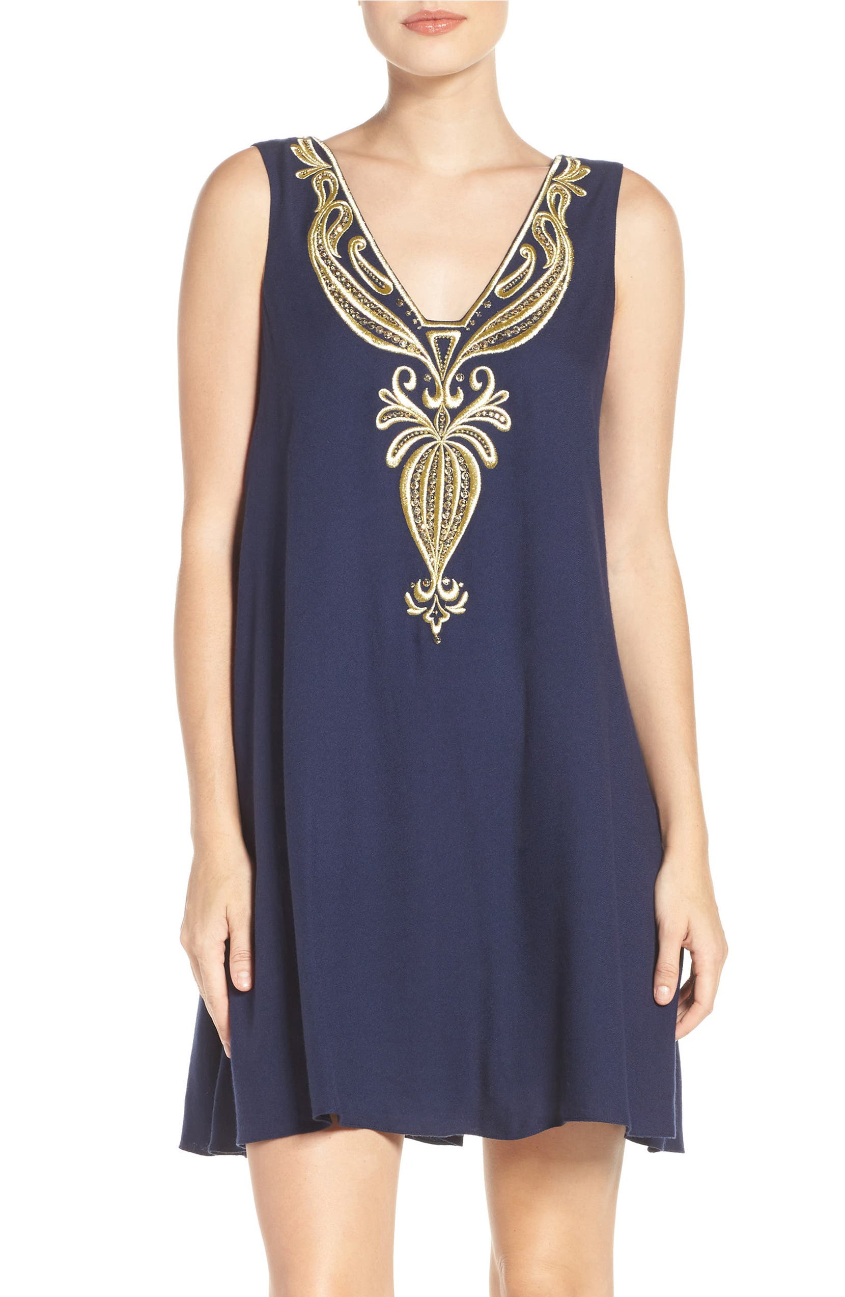 942a938bc4c6c3 Lilly Pulitzer® Owen Embroidered Trapeze Dress | Nordstrom