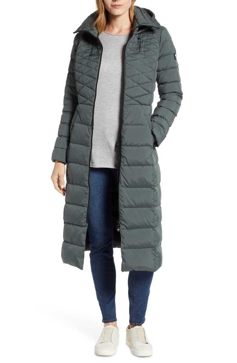 BERNARDO Quilted Long Coat with EcoPlume Fill, Main, color, 346