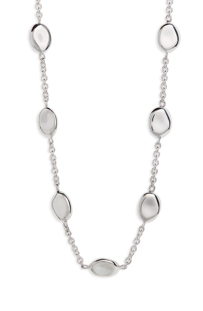 IPPOLITA Onda Chain Necklace, Main, color, SILVER