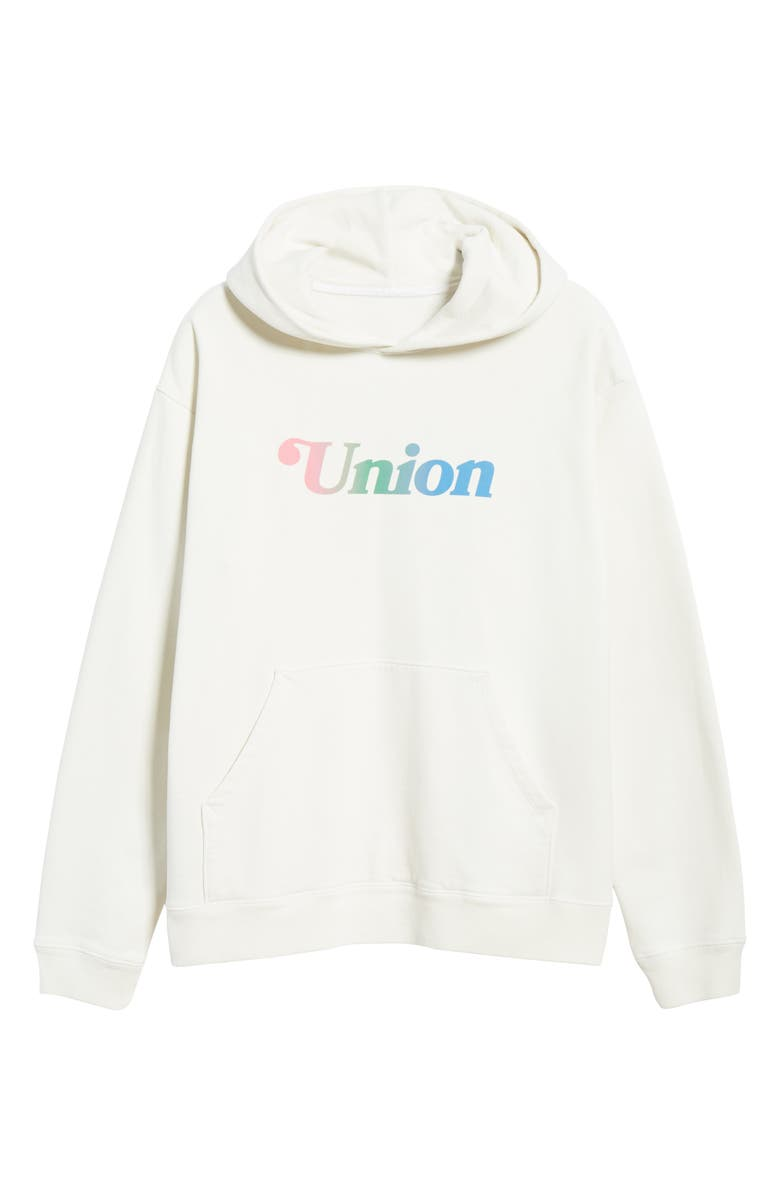 UNION PRINTABLES Summer Logo Hoodie, Main, color, LIGHT GREY