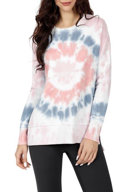 Image of 90 Degree By Reflex Brushed Side Slits Sweatshirt