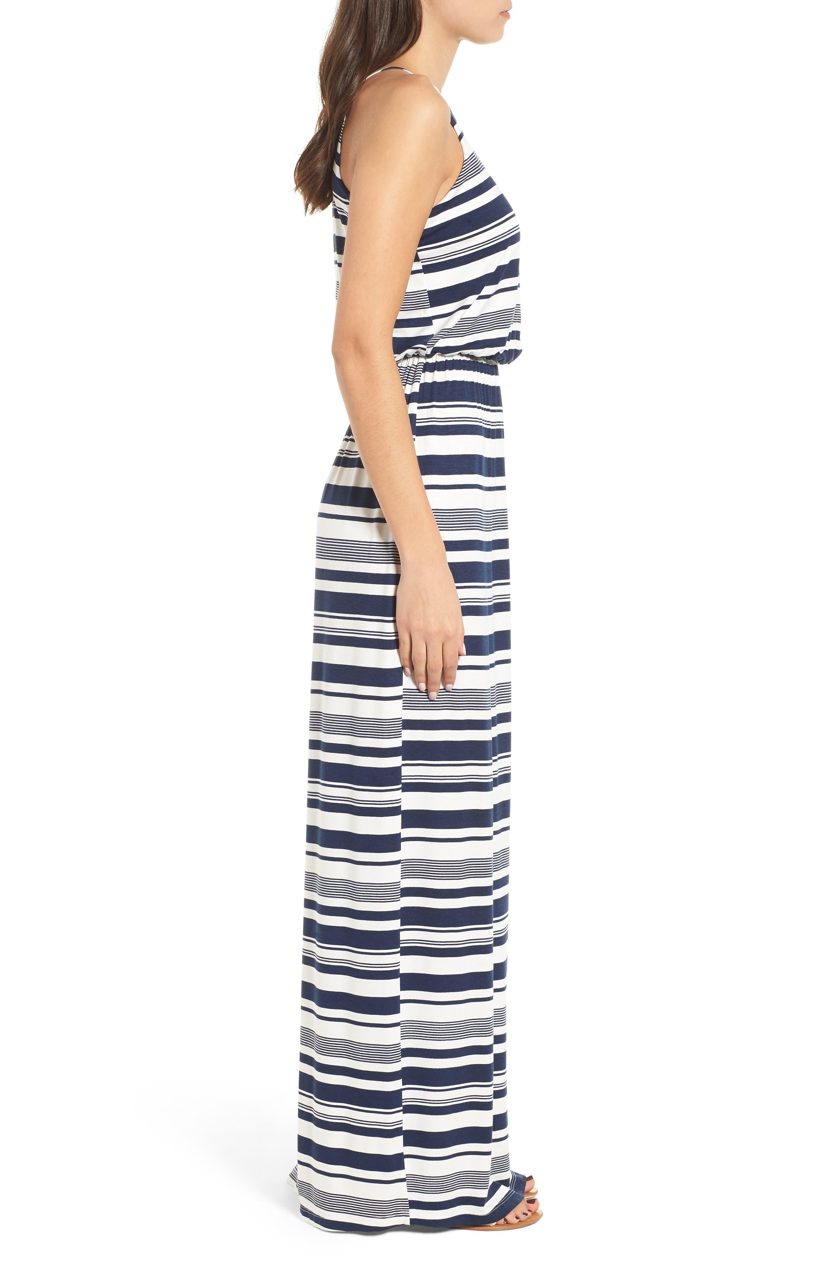,                             High Neck Maxi Dress,                             Alternate thumbnail 18, color,                             403