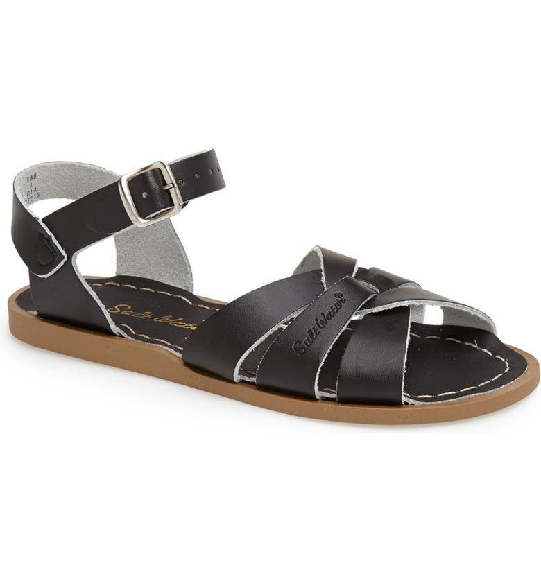 SALT WATER SANDALS BY HOY Water Friendly Sandal, Main, color, BLACK