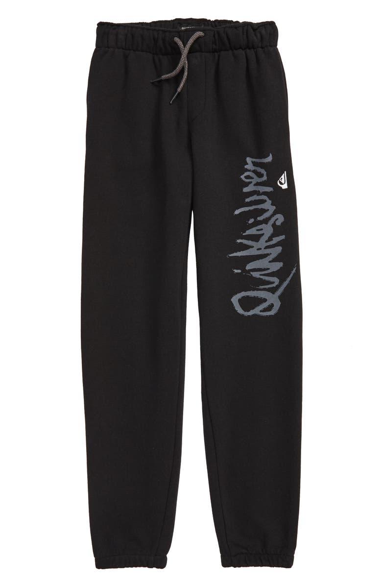 QUIKSILVER Screenprint Sweatpants, Main, color, BLACK