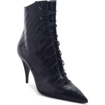 Saint Laurent Lace-Up Boot, Black