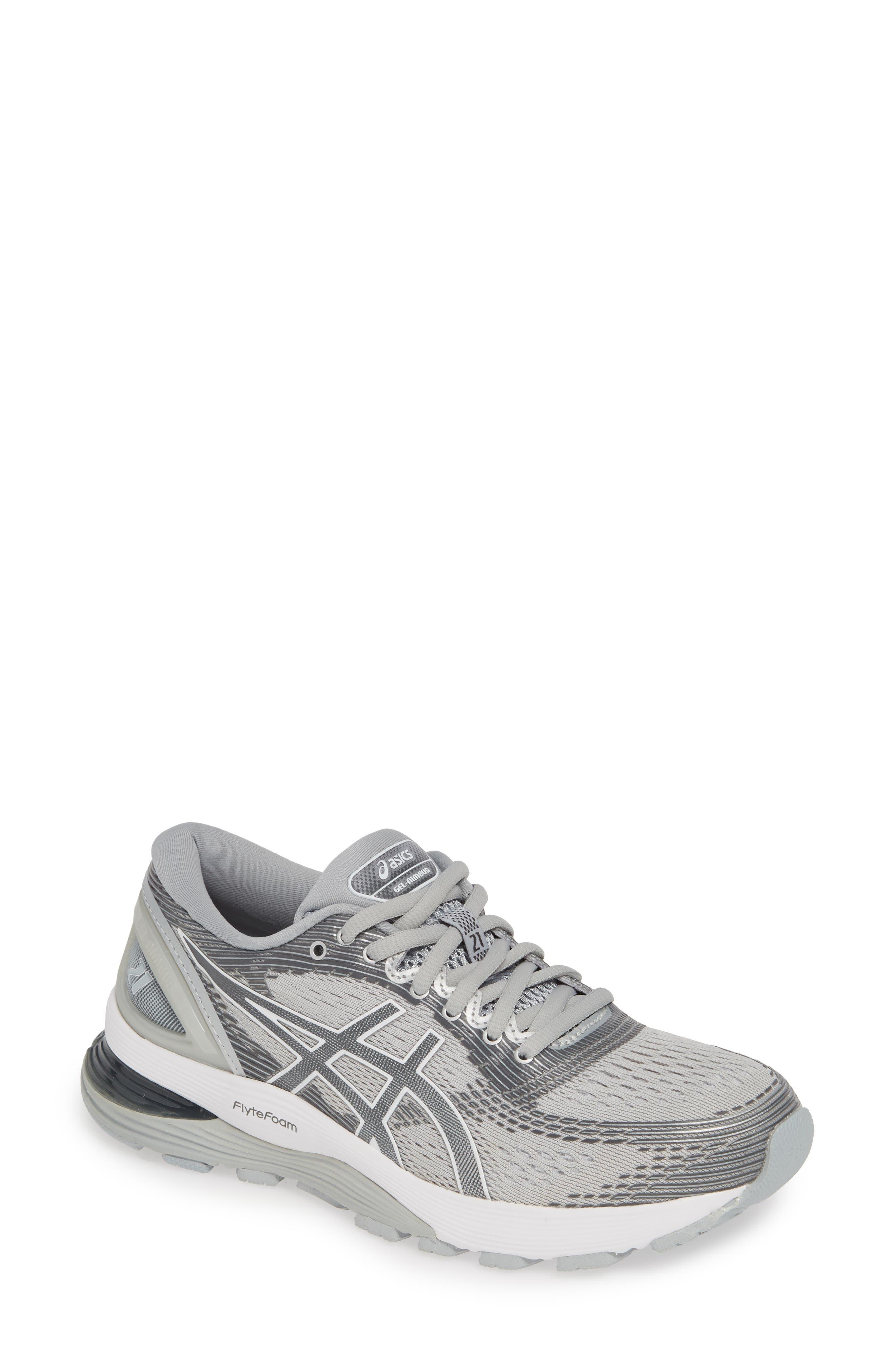 Asics Gel-Nimbus 21 Running Shoe, Grey