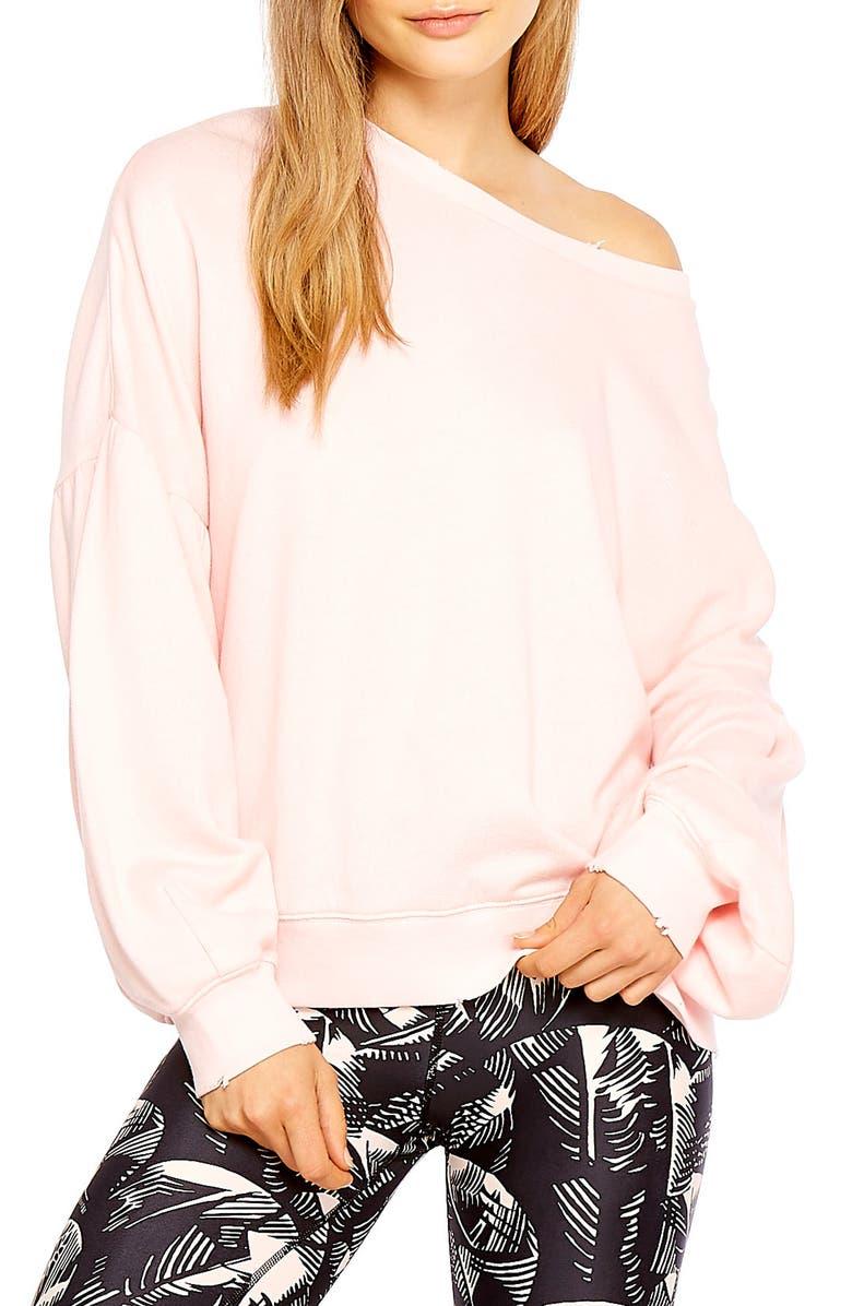 THE UPSIDE Bella Bloused Sleeve Sweatshirt, Main, color, PINK