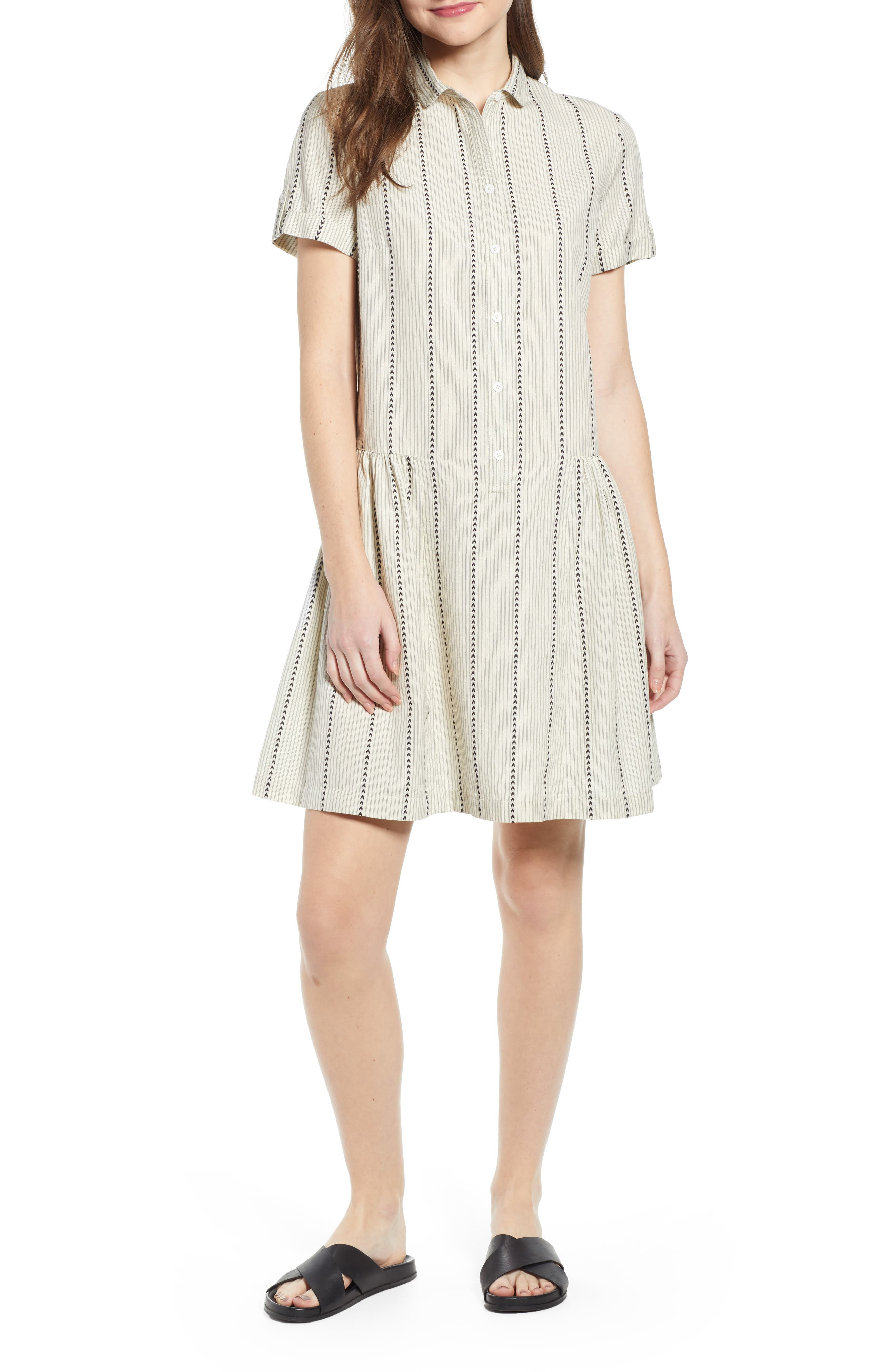 ,                             Damsel x THE ODELLS Easy Button-Up Cotton Dress,                             Main thumbnail 1, color,                             250