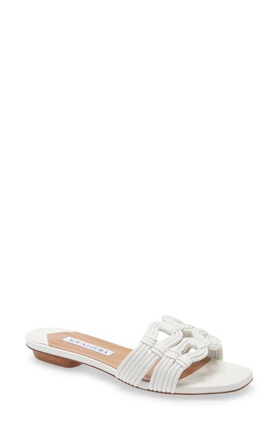 Aquazzura Women Sandals Noah Nappa Leather In White
