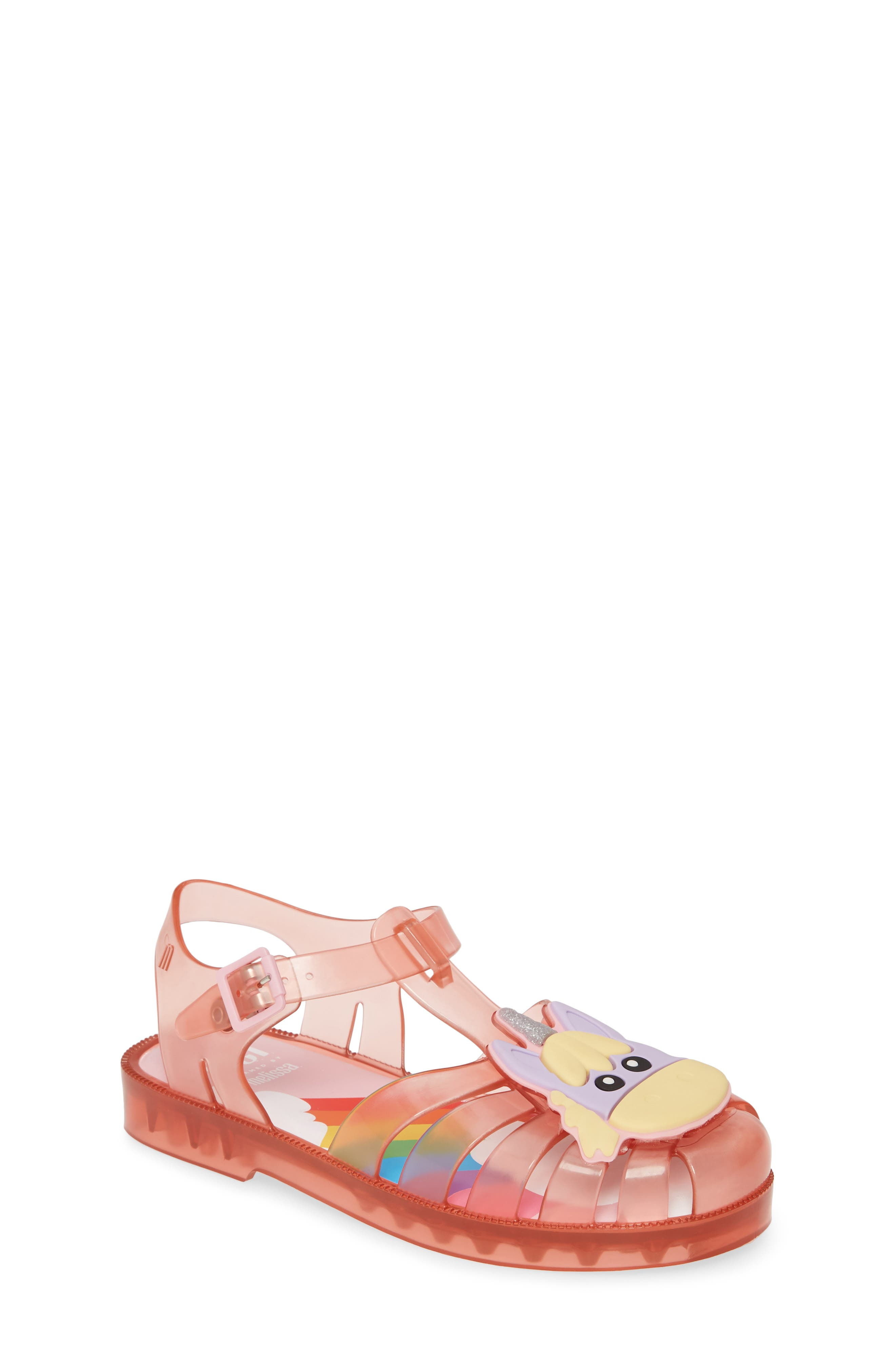 Toddler Girls Mel By Melissa Possession Unicorn Glitter Sandal Size 12 M  Pink