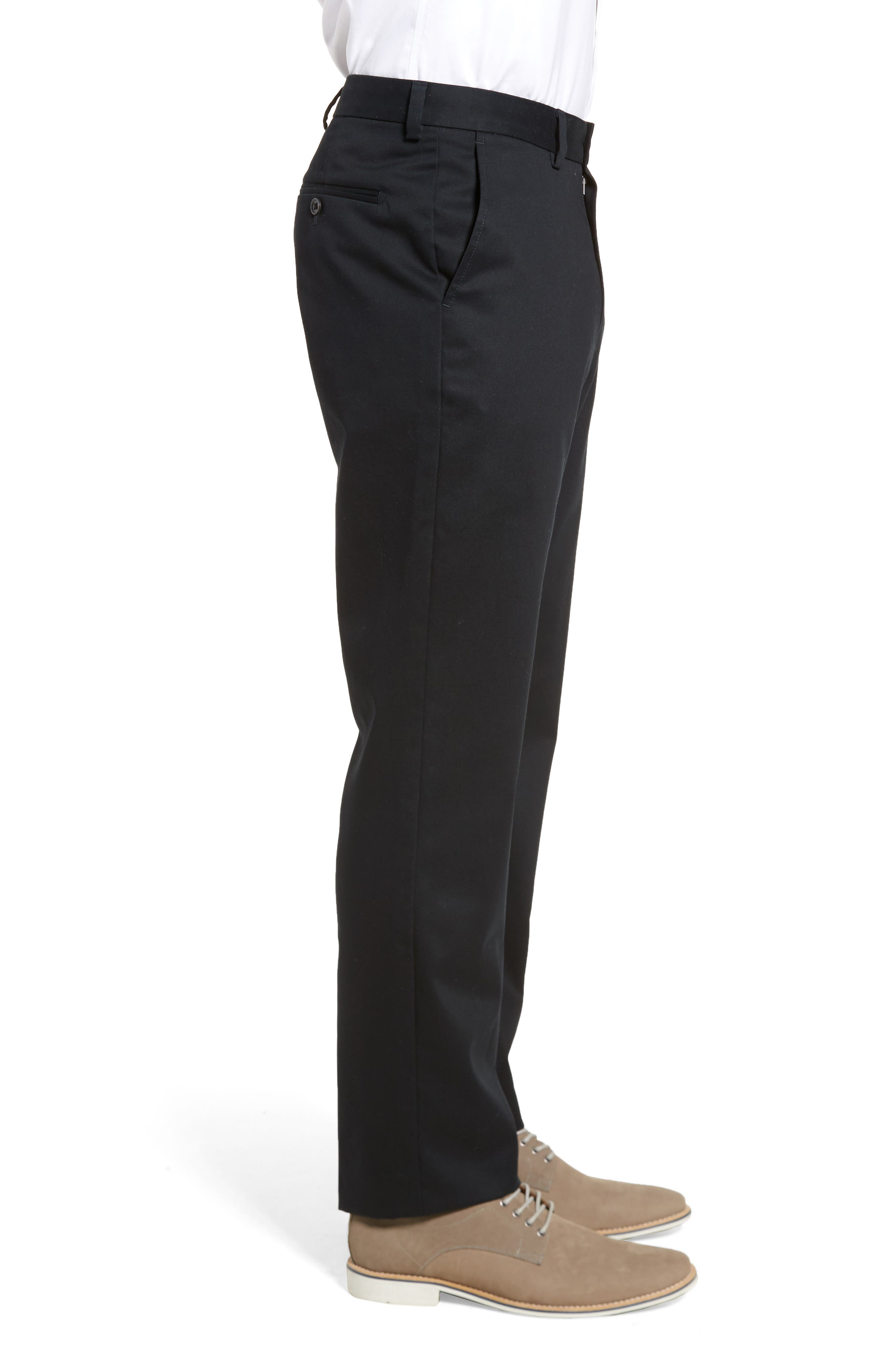 ,                             Wrinkle Free Straight Leg Chinos,                             Alternate thumbnail 4, color,                             ANTHRACITE