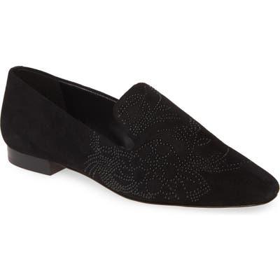 Karl Lagerfeld Paris Nova Floral Studded Loafer, Black