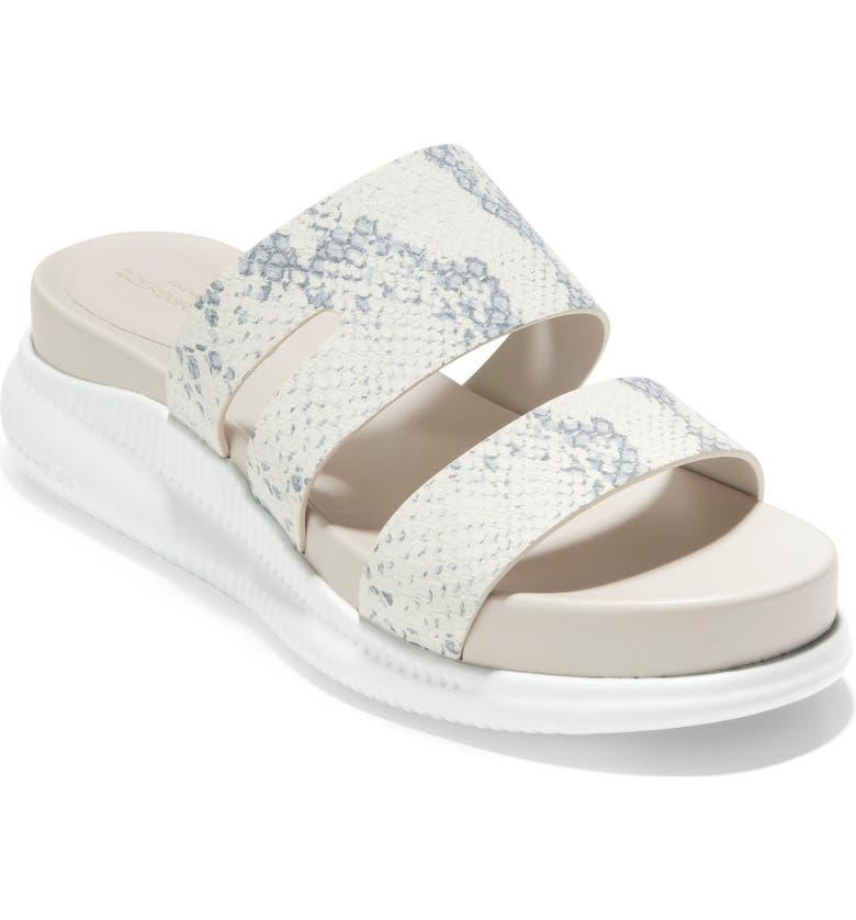 COLE HAAN ZeroGrand Slide Sandal, Main, color, IVORY/ OPTIC WHITE LEATHER