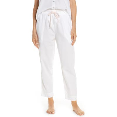 Papinelle Whale Beach Pajama Pants, White