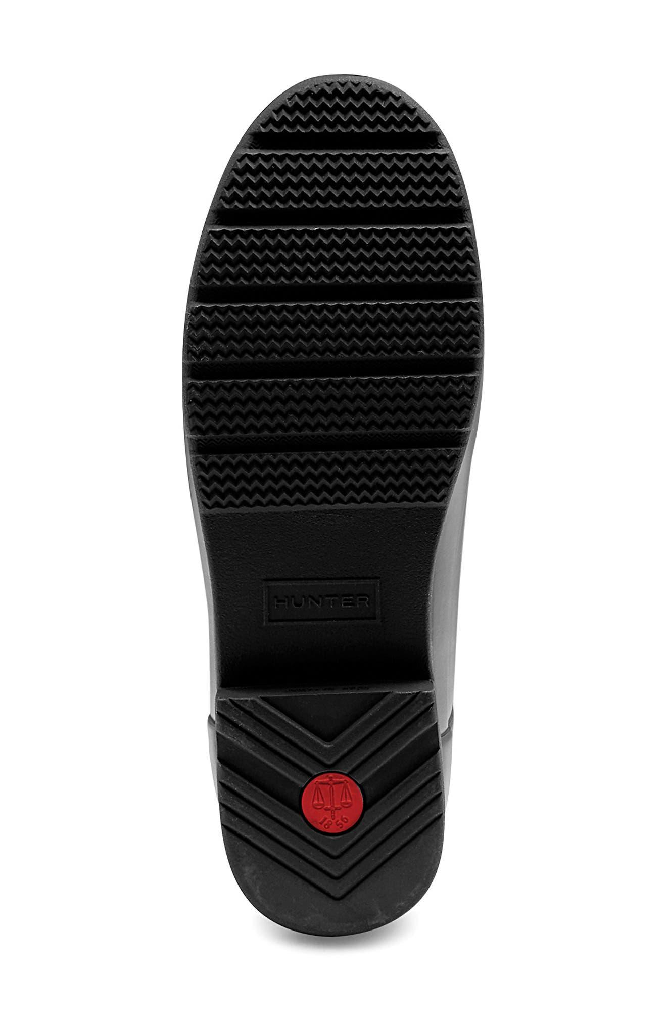 ,                             Original Refined Waterproof Rain Boot,                             Alternate thumbnail 6, color,                             BLACK