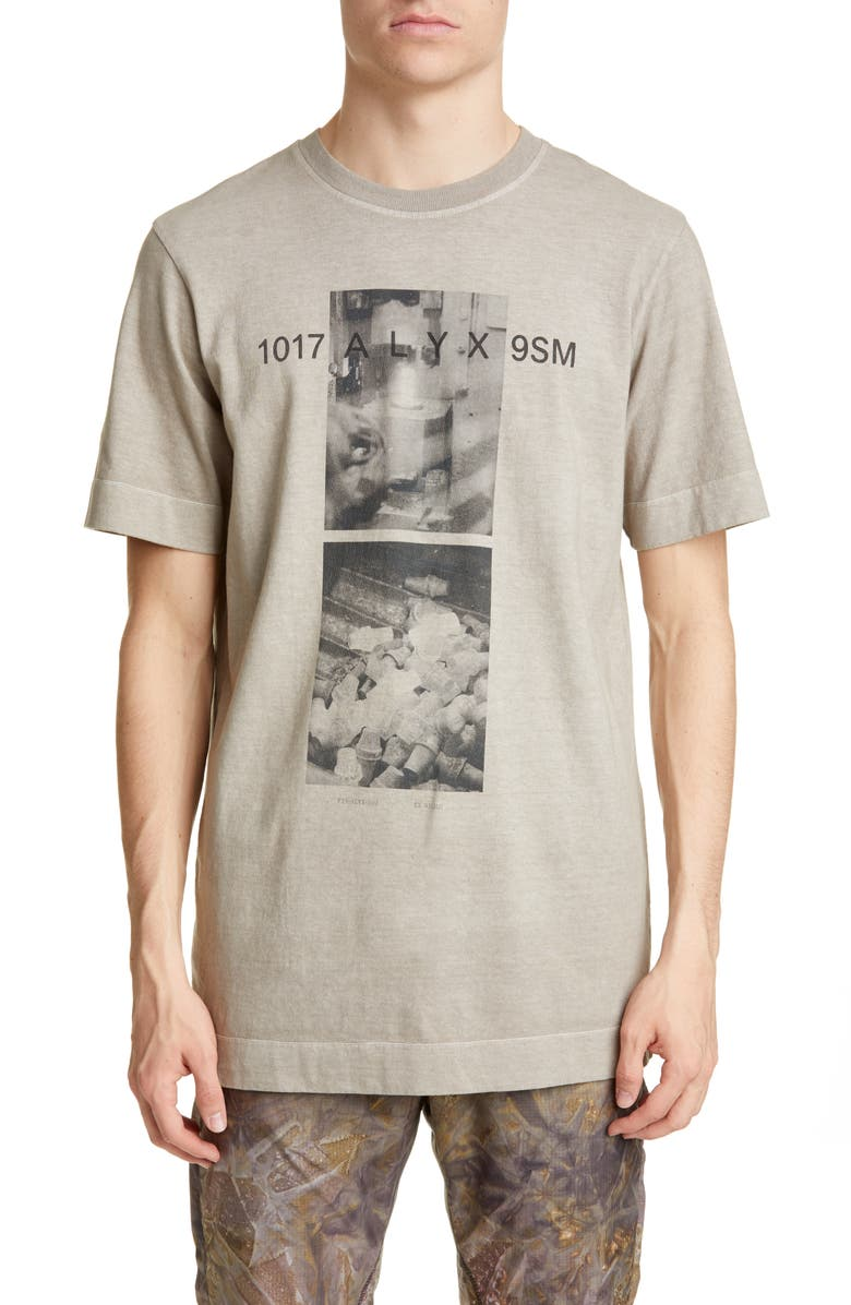 1017 ALYX 9SM Graphic T-Shirt, Main, color, TAUPE