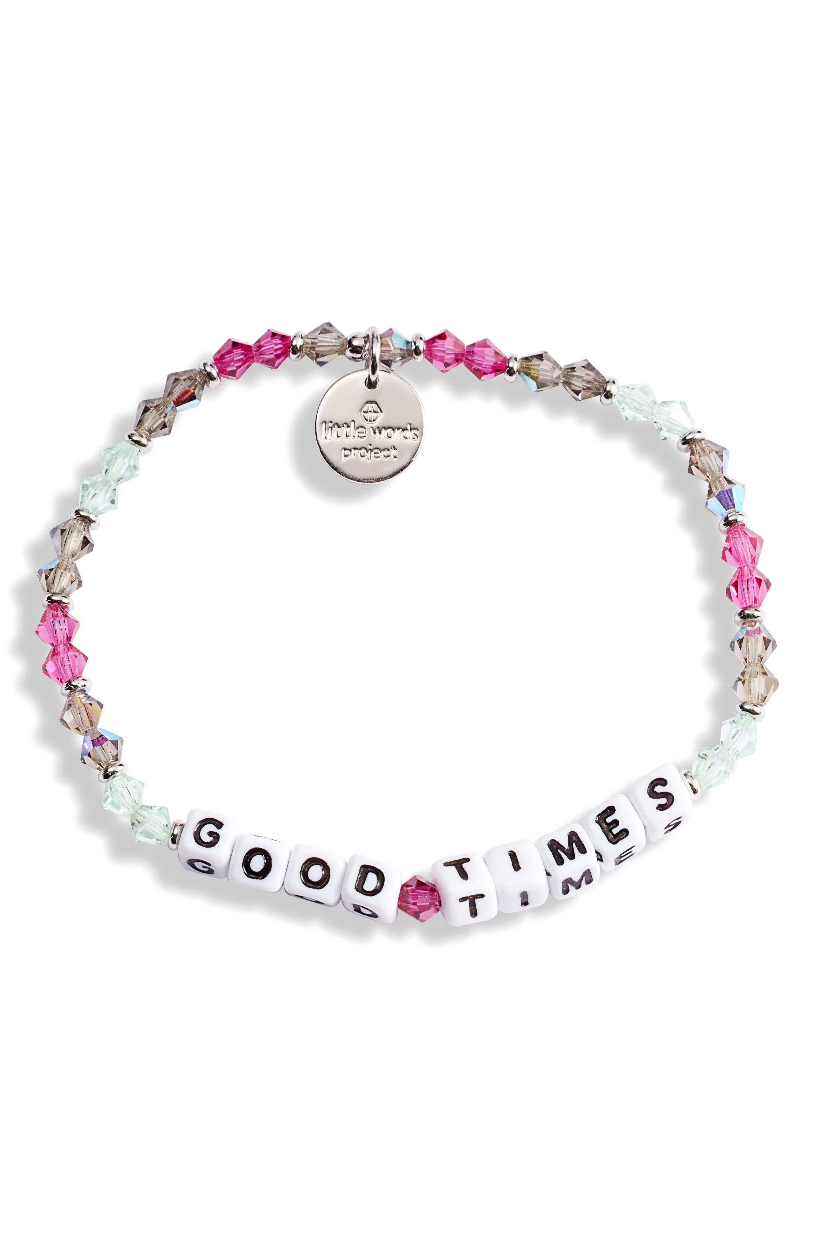 Good Times Beaded Stretch Bracelet