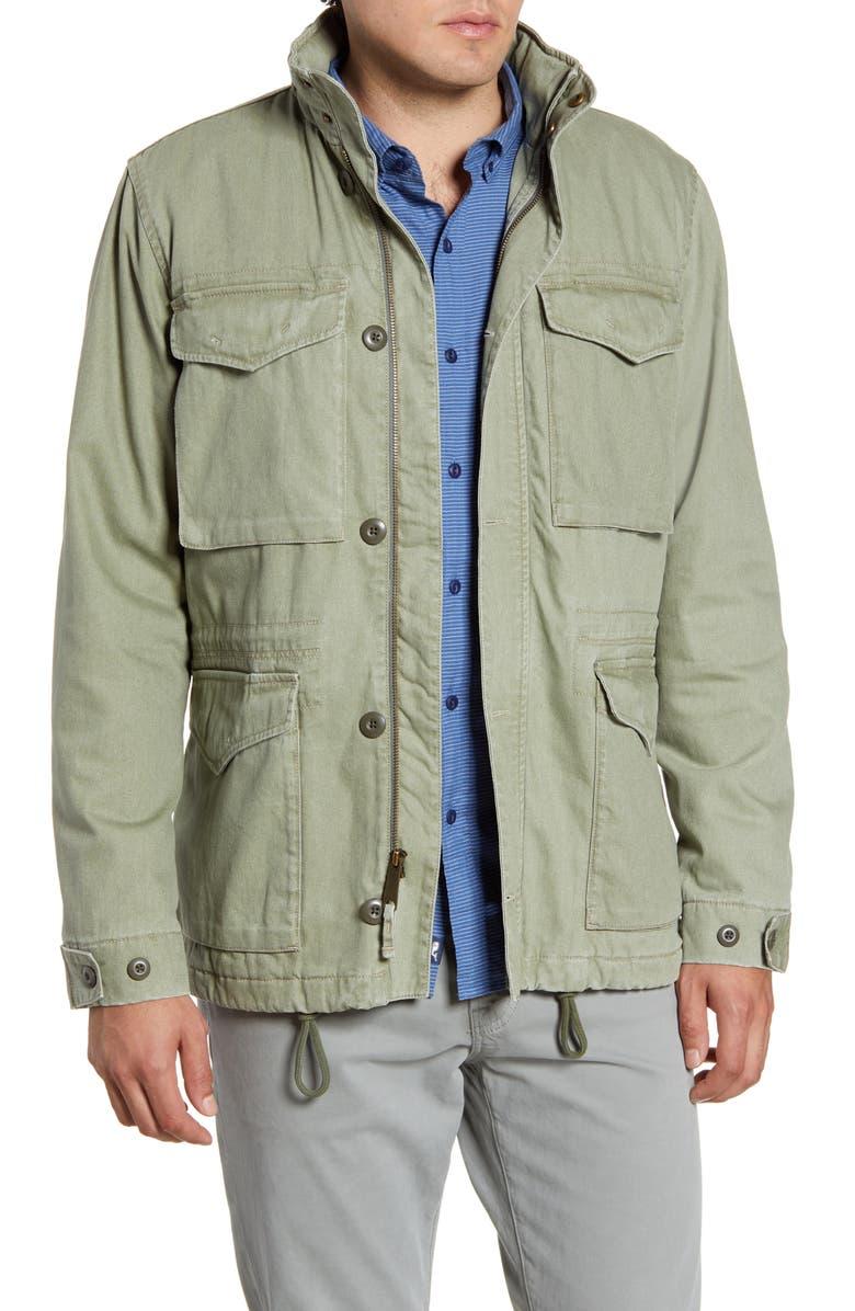 FAHERTY Vintage M-65 Jacket, Main, color, SURPLUS GREEN