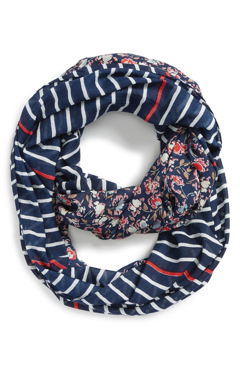 SOLE SOCIETY Mixed Print Infinity Scarf, Main, color, 960