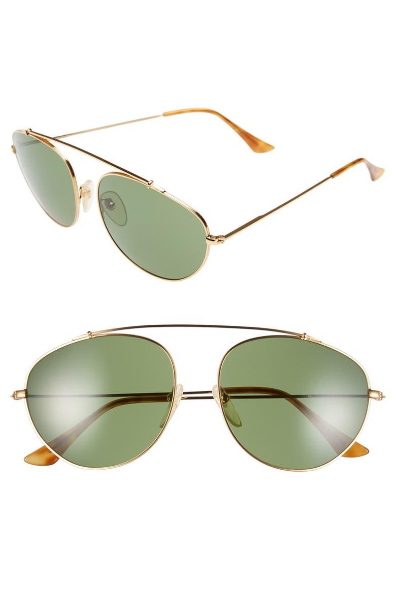 SUPER BY RETROSUPERFUTURE<SUP>®</SUP> 'Leon' 55mm Aviator Sunglasses, Main, color, 710