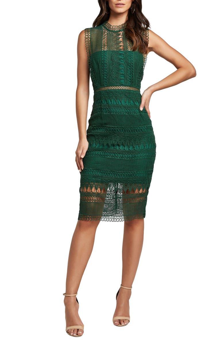 BARDOT Mariana Lace Body-Con Dress, Main, color, 300