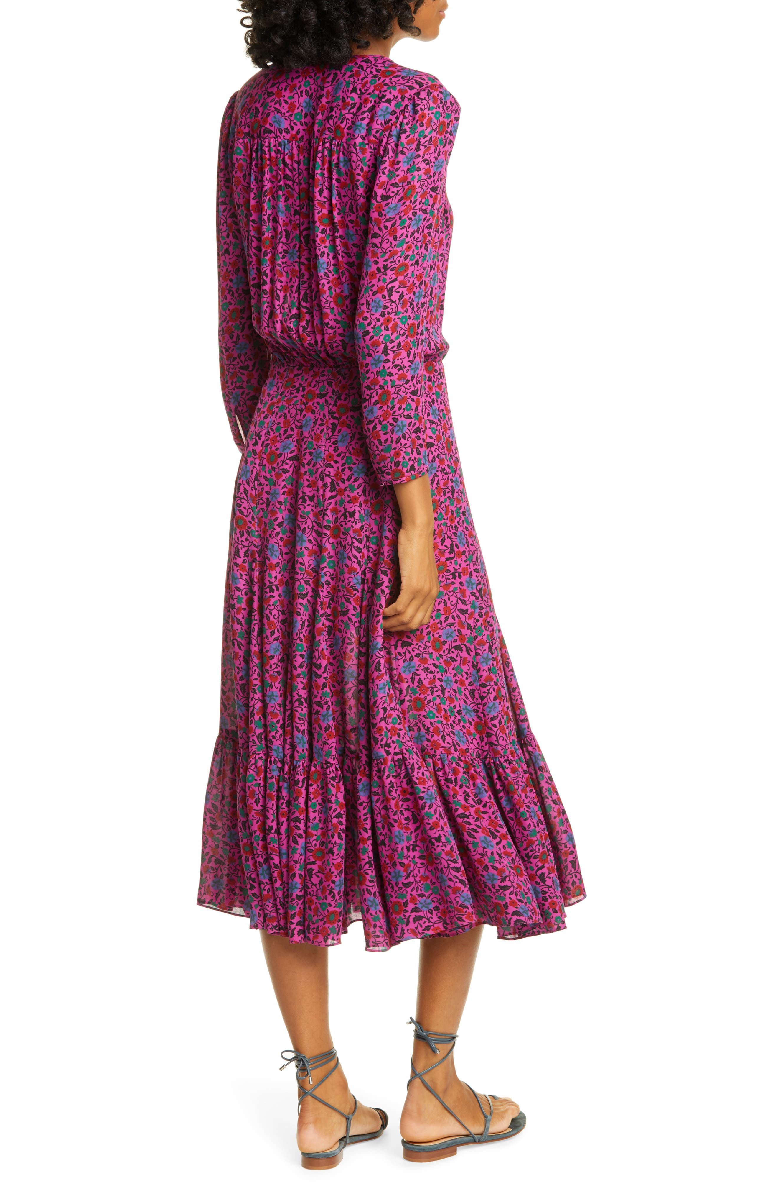 Veronica Beard Dresses Lasanna Floral Silk Dress