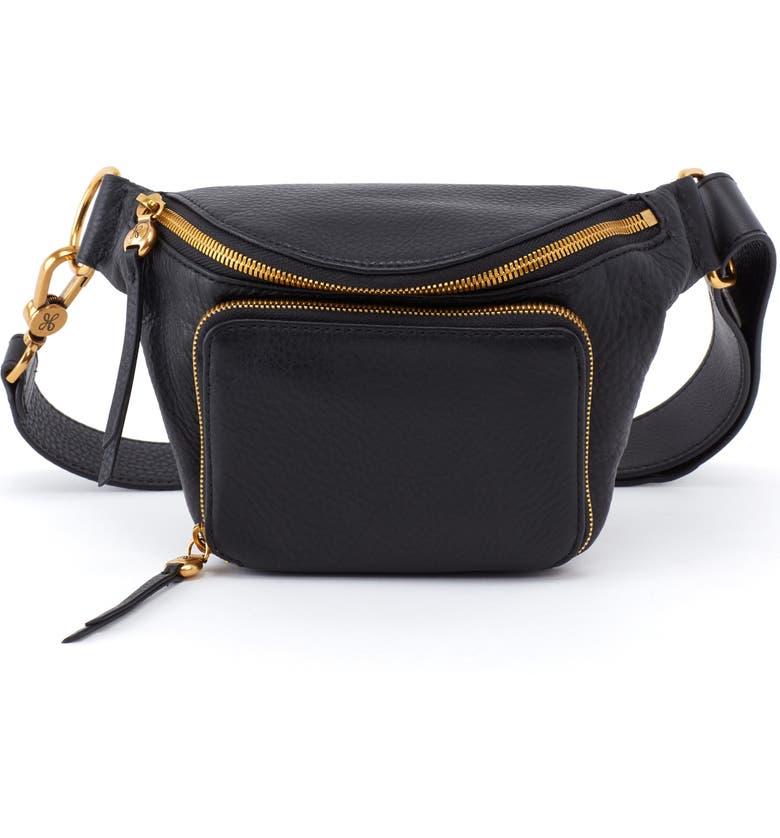 HOBO Pulse Leather Belt Bag, Main, color, 001