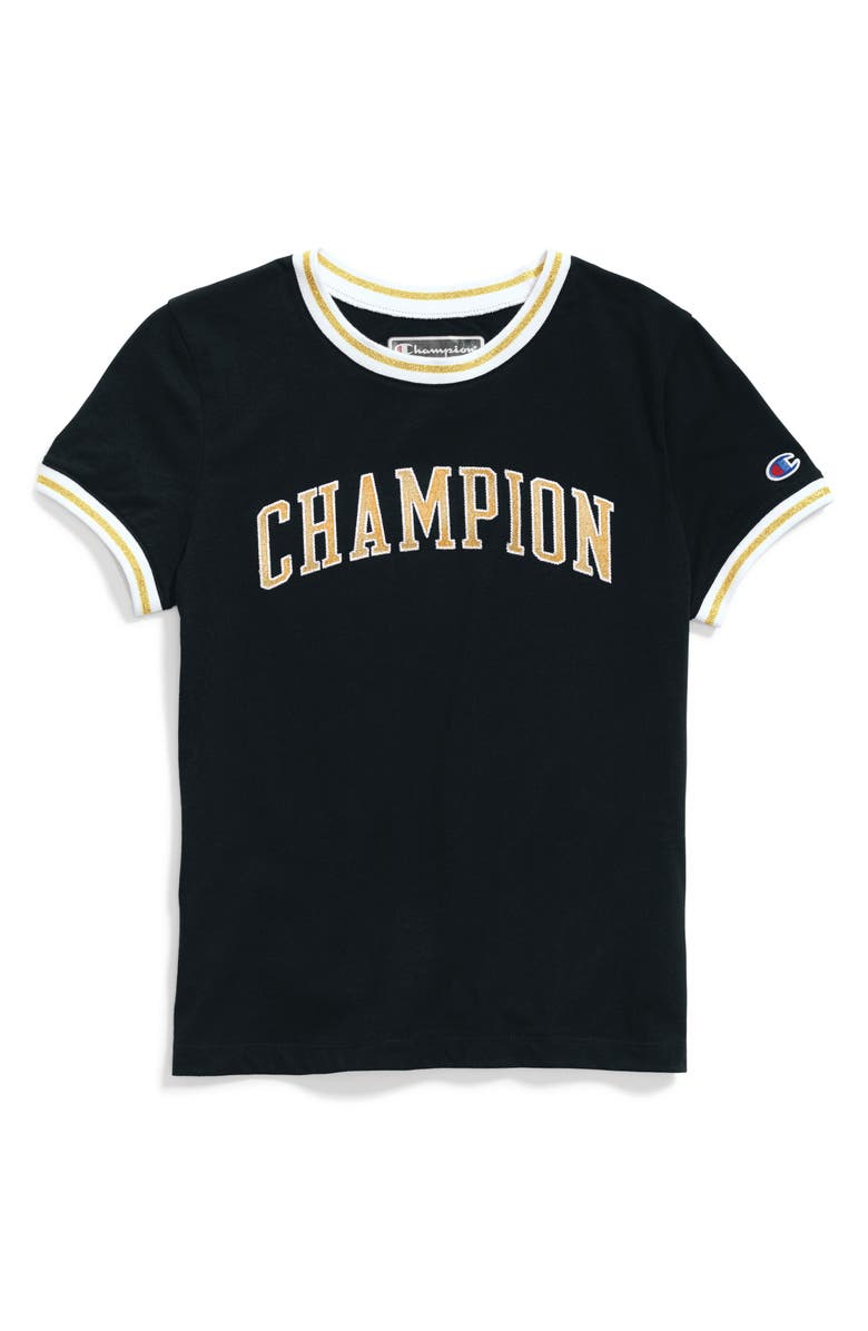 CHAMPION Logo Tee, Main, color, 001