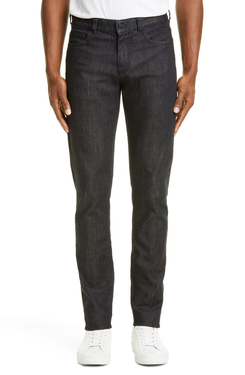 CANALI Black Edition Slim Fit Stretch Jeans, Main, color, BLACK
