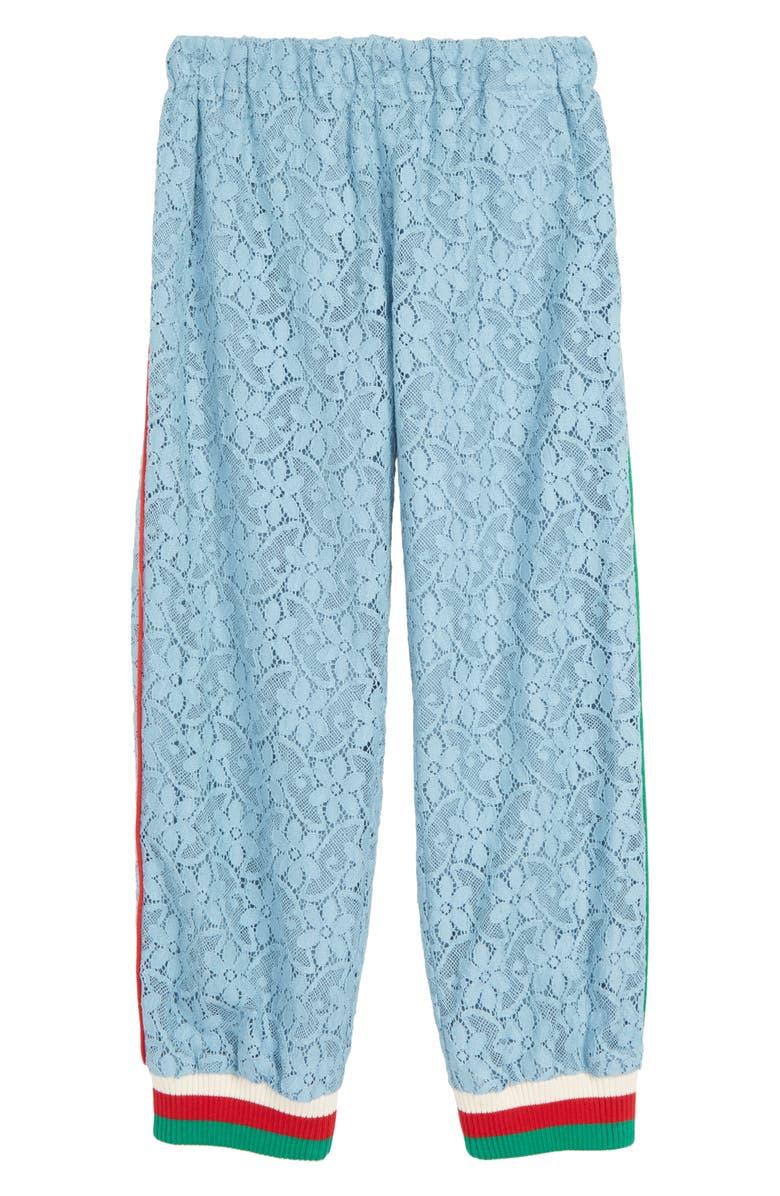 GUCCI Lace Jogger Pants, Main, color, 400