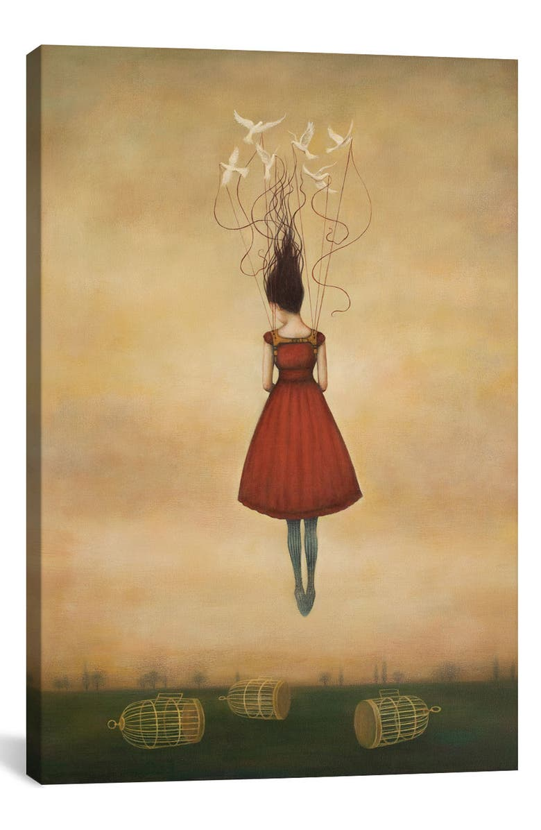 ICANVAS Suspension of Disbelief Giclée Print Canvas Art, Main, color, BROWN/ GREEN/ YELLOW/ BEIGE