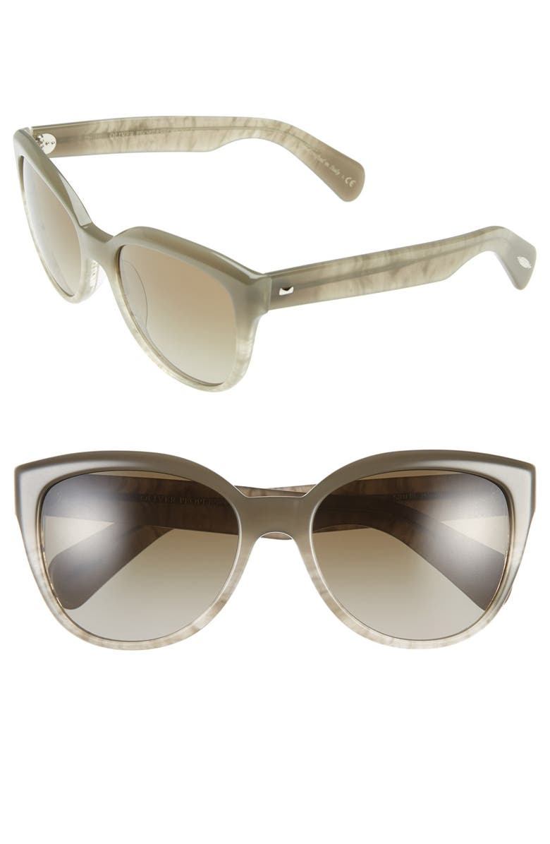 OLIVER PEOPLES 'Abrie' 58mm Cat Eye Sunglasses, Main, color, 020
